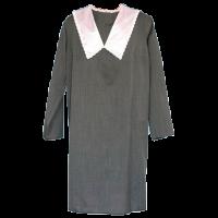Платье женское с атласным воротником