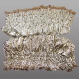 Вклад атласный с золотым накатом крестик,розочка